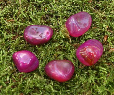 Achat rosa gefärbt, Trommelsteine M 0,5kg