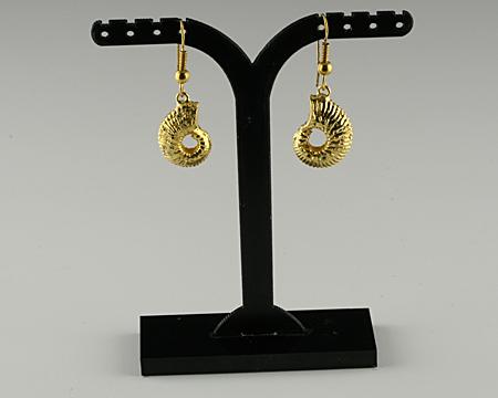 Ammonit Ohrringe vergoldet
