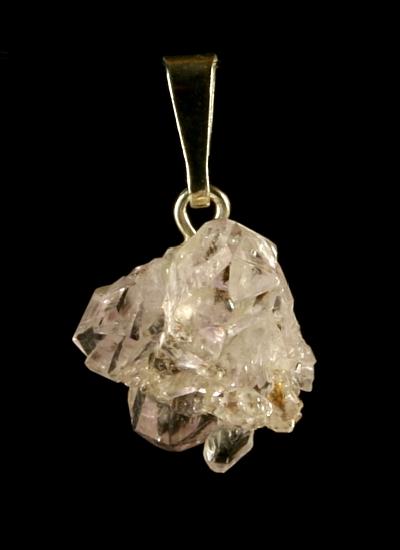 Krystal ametystu, přívěšek ve stříbře