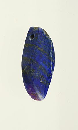 Anhänger Lapis Lazuli, gebohrt mit Lederband