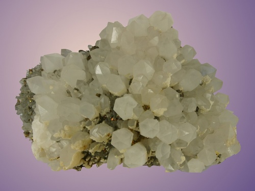 Rock crystal with chalkopyrite