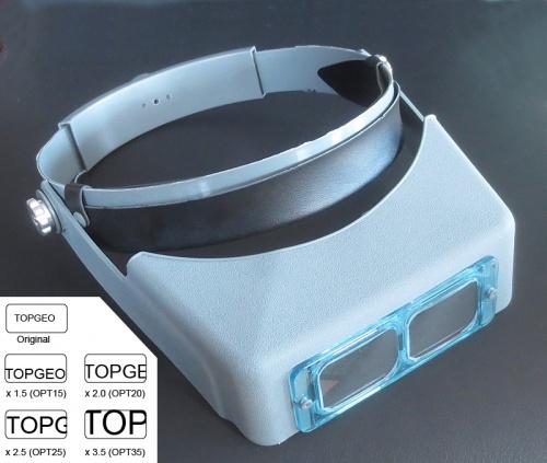Binokular-Kopfbandlupe mit Glaslinzen 2x