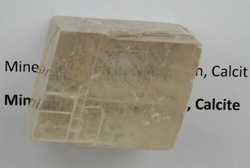 Calcite, birefringence