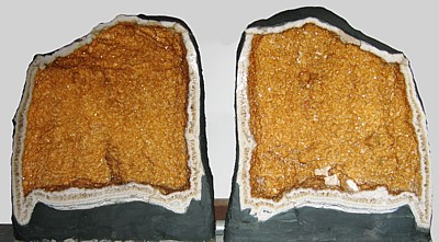 Citrine geode (PAIR, right)