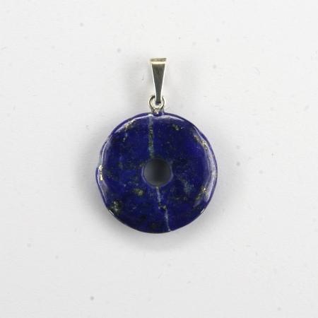 Donut Silber-Anhänger, Lapis Lazuli