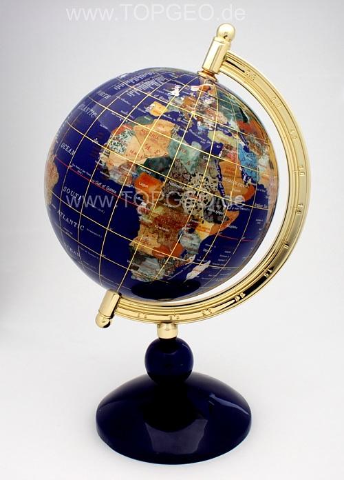 Semi Precious Gemstone Globe 1leg 220mm Topgeo