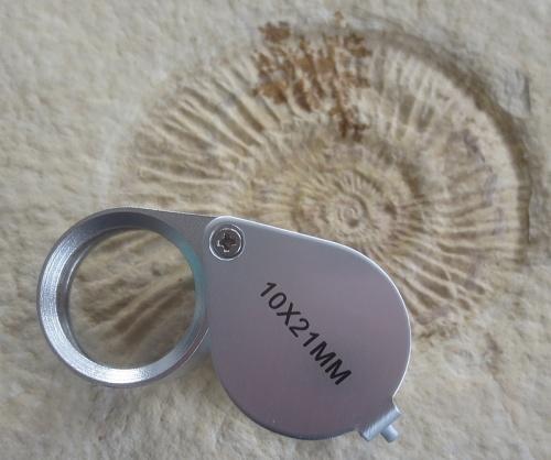 Einschlaglupe Aluminiumgehäuse, 10-fach