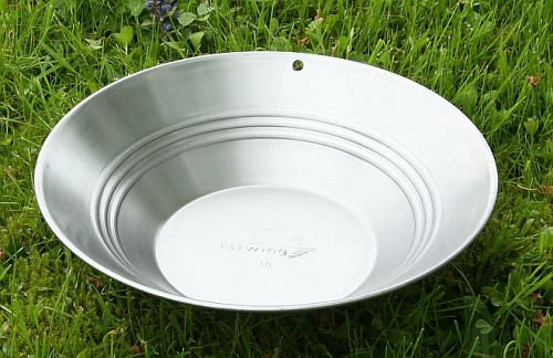 Estwing Goldwaschpfanne, Stahl 25 cm