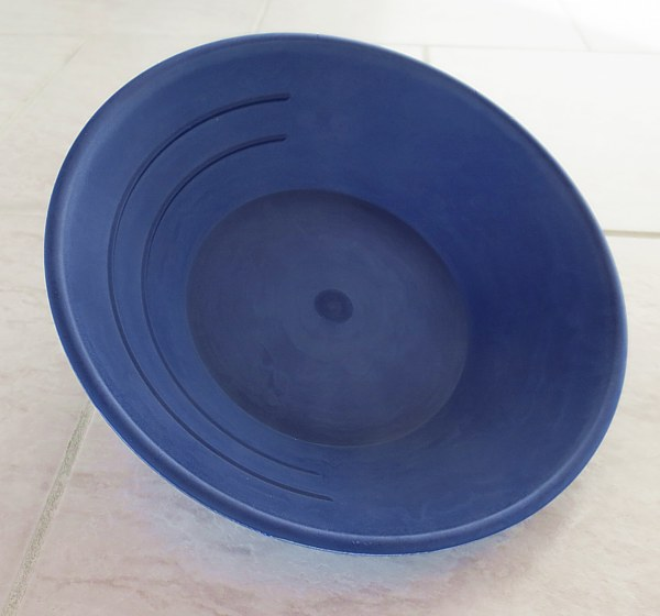 Modrá, plastová rýžovací pánev, 25 cm