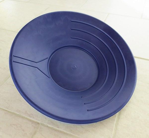 Plastic Gold Pan, blue, 35 cm