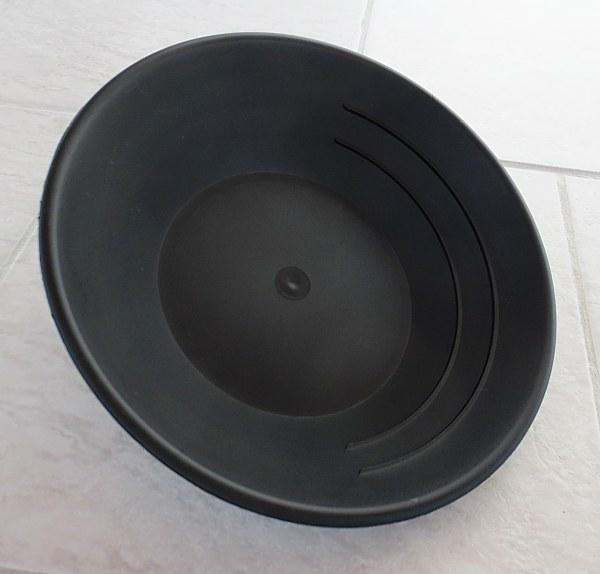 Plastic Gold Pan, black, 25 cm