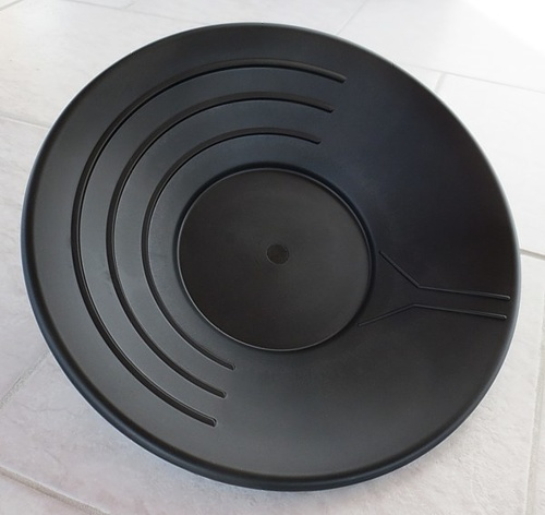 Plastic Gold Pan, black, 35 cm