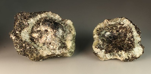 Hermanov ball, both parts, with Anthophyllite, Phlogopite and Chlorite