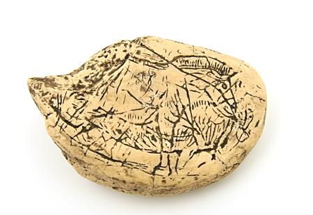 Horse engraving, La Colombière (cast)