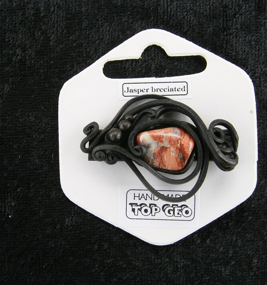 Lederlitová brož   Brekciový jaspis