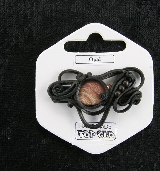 Lederlite brooch opal