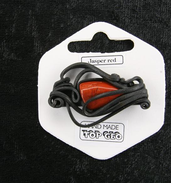 Lederlitová brož    Jaspis červený