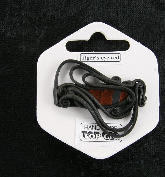 Lederlitová brož   Tygří oko