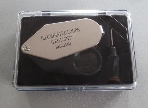 Leuchtlupe 10x, 21mm LED-Licht