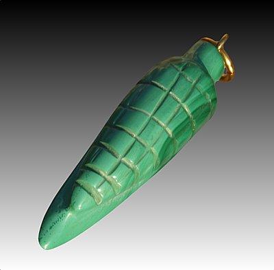Malachite pendant corn