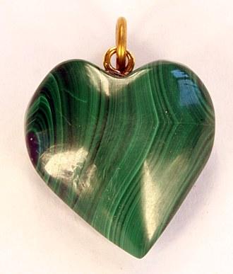 Malachitanhänger Herz