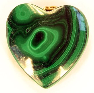 Malachite pendant heart
