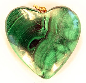 Malachite pendant heart