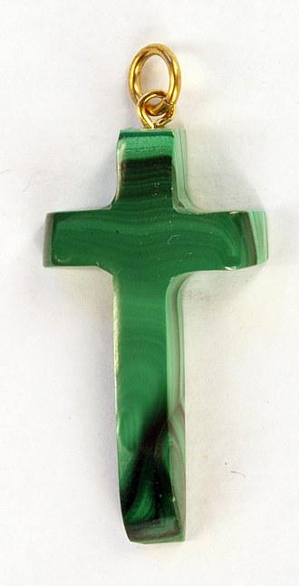 Malachitanhänger Kreuz