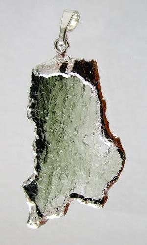 Vltavín - přívěšek stríbřený, galvanika