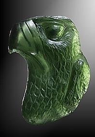 Moldavite, eagle
