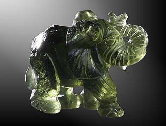 Moldavite, Elephant