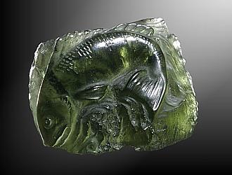 Moldavite, fish