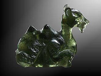 Moldavite, camel