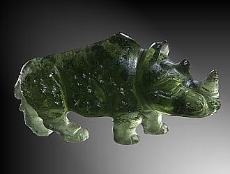 Moldavite, rhino