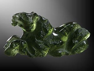 Moldavite, horse