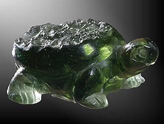 Vltavín, glyptika - želva