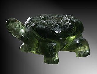 Moldavite, turtle