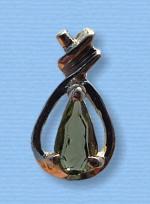 Vltavín - přívěšek ve stříbře I