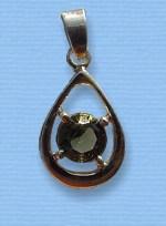 Vltavín - přívěšek ve stříbře II