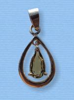 Vltavín - přívěšek ve stříbře III