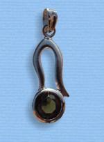 Vltavín - přívěšek ve stříbře IX