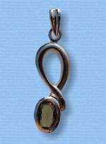 Vltavín - přívěšek ve stříbře VIII
