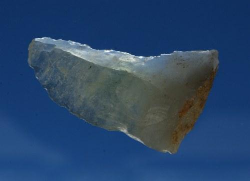 Libyjské pouštní sklo, jádro paleolitického artefaktu