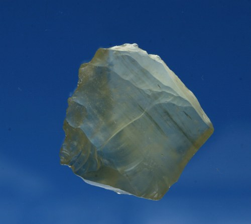 Prehistoric artifact (core) desert glass