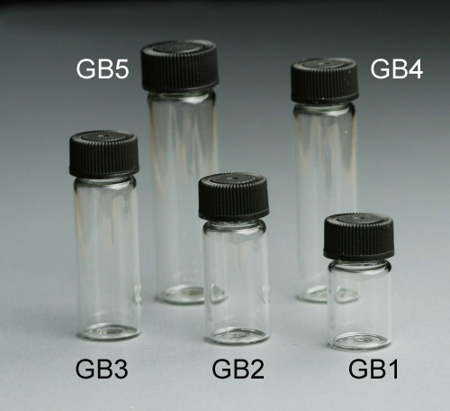 Mini Glass Bottle 5 ml with Plastic Cap. Pack of 10