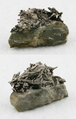 Silber (Pseudomorfose nach Dyskrasit)