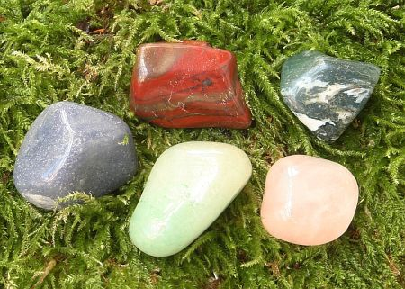 Barevný MIX, tromlované kameny XL 0,5kg